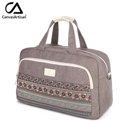 $enCountryForm.capitalKeyWord Australia - Canvas Women Travel Bags Best Carry on Luggage Bags Woman Duffel Travel Tote Large Weekend Bag Overnight Printing Hand