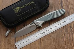 $enCountryForm.capitalKeyWord Australia - Kevin John VENOM 4 Wing hunting folding knife 100% S35VN blade Titanium ball bearing army camping knife Survival EDC tool top knifes 1pcs