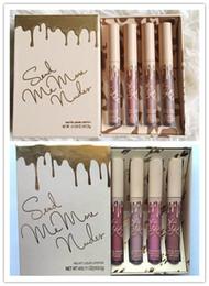 Discount kylie cosmetics lip kit - Kylie Jenner Vacation Edition lip kit 4pc set lipstick Matte & Velvet Liquid Lipstick 4 colors set cosmetics matte lipst
