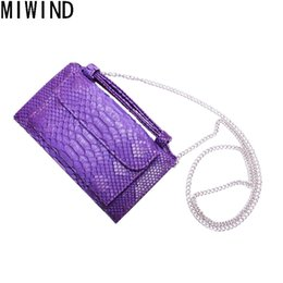 Discount leather cell phone patterns - MIWIND Evening Clutch Bags Serpentine Pattern Split Leather Women Shoulder Bags Crossbody Purses female Clutches Handbag
