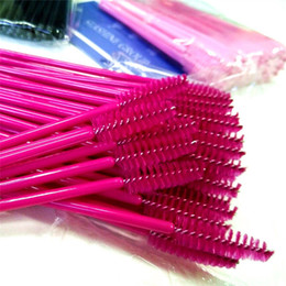 hot pink mascara NZ - Seashine Eyelash Eye Lash Makeup Brush Mini Mascara Wands Applicator Disposable Extension Tool Hot Sale Free Shipping