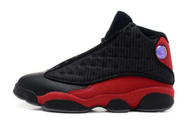 Size 13 Kids Shoes UK - New mens Women kids 13 OG Black Cat Basketball Shoes 3M Reflect All Black 13s Trainer Sneakers For Sale kids shoes 36-47