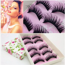 d3fd9933dfa Women Thick Eye NZ - Wholesale 80 Pairs Women Lady Natural Eye Lashes  Makeup Handmade Thick