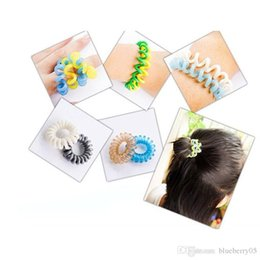 Braided Hair Ring NZ - 600pcs Mulit-color Telephone Wire Cord Girl Elastic Ring Head Tie Hair Rope Hair Accessories Hair Styling Tools Braids Wholesale