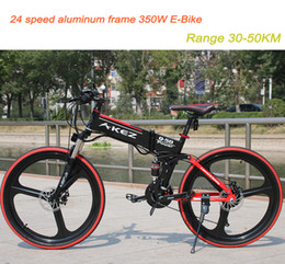 $enCountryForm.capitalKeyWord NZ - 24 speed 26 inch electric folding mountain bike 350W lithium battery Hybrid ebike 30-50KM range free shipping