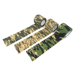 Hunting stickers online shopping - 1 Rolls Self adhesive Non woven Bike Stickers Camouflage Wrap Rifle Hunting Shooting Cycling Tape Waterproof Camo Stealth Tape