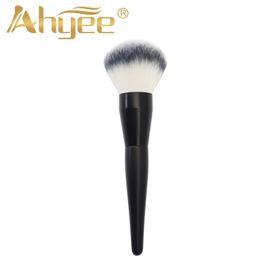 $enCountryForm.capitalKeyWord NZ - Portable Large Makeup Brush Big Size Tip Handle Face Powder Foundation Blush Blending Synthetic Hair Professional Cosmetic Tool