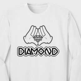 $enCountryForm.capitalKeyWord NZ - DIAMOND GLOVES Mouse Hands T-shirt Cartoon Illuminati YOLO Long Sleeve Tee
