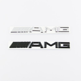 Chinese  Mercedes benz ABS Plastic Silver Black 3M AMG Decal Sticker Logo Emblem Car Badges manufacturers
