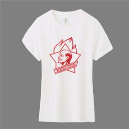 Female clothings online shopping - Women s Tee Siemnino Soviet Union Lenin T Shirt Girl Women Tops Short Sleeve Cotton Barber Woman T shirts Female Clothings Os