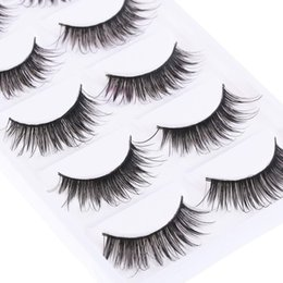 eyelash under eye Canada - 5 Pairs Women Lady Natural Thick False Eyelashes Long Handmade Fake Eye Lashes Extension Makeup Tools