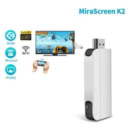 Vente en gros MiraScreen K2 Dongle d'affichage sans fil Wi-Fi Miracast Airplay n'a rien à redire sur le grand écran Adaptateur TV Stick VS cromecast Ezcast