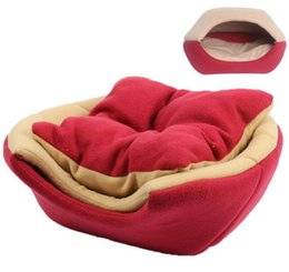 small house puppies Australia - Multifunctional 2 uses Pet Dog Cat Bed With Mat Foldable Puppy Kitten Nest Sleep House For Small Medium Dogs and Cats