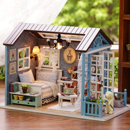 boneca toys 2018 - Christmas Gifts Miniature Doll House Model Building Kits casa de boneca Wooden Furniture Toys Birthday Gifts-Forest Time