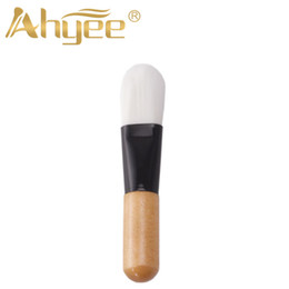 $enCountryForm.capitalKeyWord NZ - New Arrival Professional Foundation Brush High Quality Face Mask Makeup Brush MINI Beauty Tool With Wood Handle Synthetic Hair