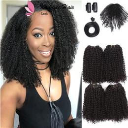 Human Hair 12inch Australia - Synthetic fiber 12inch 16inch brazilian curly janet crochet braiding hair extensions african small curly hair human hair feeling USA UK