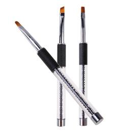 Whole Pen Brush Australia Professional Nail Art Round Flat Oblique Painting Brushes