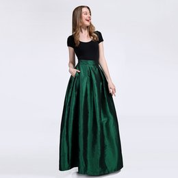 China New Bridesmaids Skirts with Pockets A-line Taffeta Prom Dresses Evening Wear Wedding Cheap Bridesmaids Dresses TU0010D suppliers