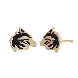 $enCountryForm.capitalKeyWord UK - 10 pairs lot New Vintage Enthic Jewelry Gold Color Silver Plated Wolf Stud Earring For Men Slavic Viking Alloy Zinc Religious Luxury