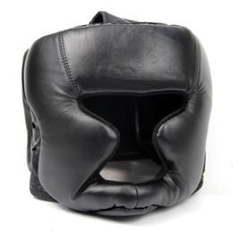 $enCountryForm.capitalKeyWord NZ - Promotion Black Good Headgear Head Guard Training Helmet Kick Boxing Protection Gear Sport Fitness Supplies Good Quality