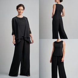 two piece evening pant suits 2019 - Plus Size Pantsuits Mother Of The Bride Dresses Outfit Two Pieces Garment Dress Evening Wear Cheap Custom Plus Size Pant
