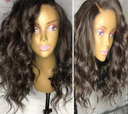 Discount brazilian curly wave short hairstyles - Short Human Hair Bob Wigs For Black Women Body Wave Remy Brazilian Full Lace Bob Human Hair Wigs Pre Pluck With Baby Hai