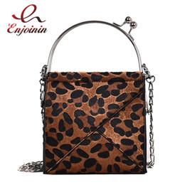 fa4499a8e Marrón Caqui Leopardo Faux Fur Moda Hebilla de cuero de la PU Bolso de  hombro ocasional de las mujeres Crossbody Mini Messenger Bag Bolsa