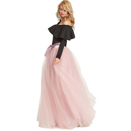 bridesmaid tutus UK - Custom-Made 6 Layers 115cm Tulle Tutu Skirts Prom Dresses Evening Wear Wedding Cheap Bridesmaids Dresses TU0006