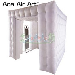 Wholesale Full white inflatbal photo booth,led air photo party booth by booth manufactures