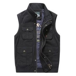 Wholesale khaki waistcoat mens for sale - Group buy Plus Big Size XL XL XL Clothing Autumn Mens Vests Sleeveless Jacket Cotton Casual Multi Pocket Vest Male Waistcoat Coat