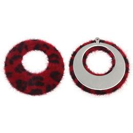 $enCountryForm.capitalKeyWord UK - XINYAO 10pcs lot 42mm Leopard Fake Rabbit Fur Earring Charms Pompon Fur Charms Pendant For Necklace Bracelet DIY Jewelry Making