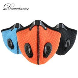 $enCountryForm.capitalKeyWord NZ - Breathable Outdoor Sports Mask Cycling Running Carbon Dust proof Half Face Mask Motorbike Anti-fog Mountain Ski Face Protectors