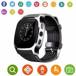 Bluetooth Smart Watch Sim Australia - T8 Bluetooth Smart Watch Support SIM TF Card LBS Locating With 0.3MP Camera Smartwatch Sports Wristwatch For Android