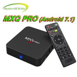 Ott Tv Canada - Factory Sale MXQ Pro 4K Smart Android 7.1 smart OTT TV Box Rockchip RK3229 Quad Core Google Set Top Box