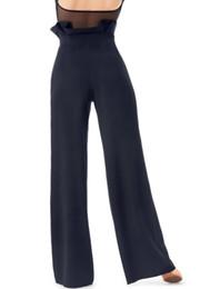 89572af4ac Pantalones de baile latino sexy Baile cuadrado negro Baile de salón  Pantalón Cha Cha Vestido Mujer Pantalones modernos
