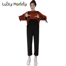 80f93f75f2464 High Quality Maternity Jumpsuit Jumpsuits Overalls Jeans for Pregnant Women  Fashion Black and White Pregnancy Clothes Clothing