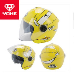 Yohe Half Helmets Australia - 2018 Winter New YOHE Children Half Face Motorcycle helmet kids ABS Motorbike Helmets Child safety helmet PC Lens visor FREE SIZE