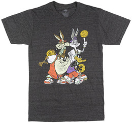 be0d8017 Details zu SPACE JAM LOONEY TUNES T-SHIRT MENS CHARCOAL 90S RETRO CARTOON MOVIE  TEE TOP Funny