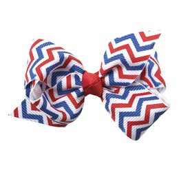 1PC 3inch Kids Girls Hair Bows 4th of July Stripes American Independence  Day Headband Hair Accessories Headwear 093fd533d57b