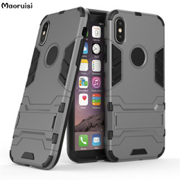 $enCountryForm.capitalKeyWord NZ - phone cases For Apple IphoneX Case Soft Silicone + PC 2 In 1 Heavy Duty Kickstand Armor black case For Iphone X capa bags