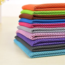 Discount sports ice bag - Double Layers Ice Cold Towel Quick Dry Cooling Towels Summer Instant Ice Cool Sports Dry fit Towels for Fitness Outdoor