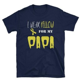 64f12141779c4d I Wear Yellow For My PaPa Funny T-Shirt 2018 Summer New Brand T Shirt Men  Hip Hop Men T-Shirt Casual Fitness