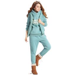 Ladies Gym Suit Canada - Women's Tracksuits Sport Suits Jacket Sweatshirt and Pants 3 Pcs Set Women Gym Fitness cappa Jogging Suits Ladies Clothing 2017