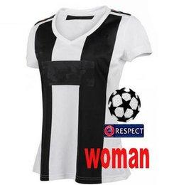 40b3c77d4 women18 19 Soccer Jersey 2018 Home RONALDO DYBALA HIGUAIN MANDZUKIC D. Costa  BUFFON Football Shirt BLACK WHITE patch 2019 Woman