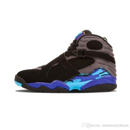 a891d866128688 (with box) New 8 8s Men 8s Playoffs Three Peat 2018 Release Sneakers With  Shoes Box Chrome Aqua Black Purple Basketball Shoes