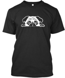 3ad93a83 Pug t-shirt Animals Lovers cloth T-ee funny t-shirt Dogs T-shirt Pug owner tee  jacket croatia leather tshirt
