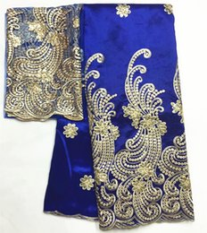 White George Lace Fabric Canada - African George Fabric High Quality Nigerian George Lace Fabric,ROYAL BLUE African Swiss Lace Fabric For Nigerian Wedding