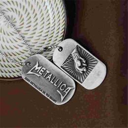 $enCountryForm.capitalKeyWord Australia - Classic Rock Music band The Metallica Necklace Pendant High Quality Hip Hop Music Metallica Logo Dog Tag Charms Necklace Jewelry