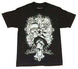 Neck Gear Australia - Tribal Gear Mouse Lopez Skulls Cross Black Shirt New Official Mens Streatwear Mens T-Shirt Summer O Neck Cotton