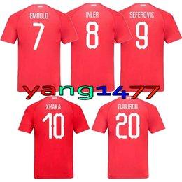 e212b5be99e ... 2018 world cup switzerland soccer jersey top quality 7 embolo 10 xhaka  2018 switzerland football shi